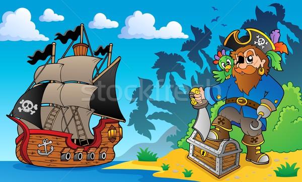 Pirate on coast theme 2 Stock photo © clairev