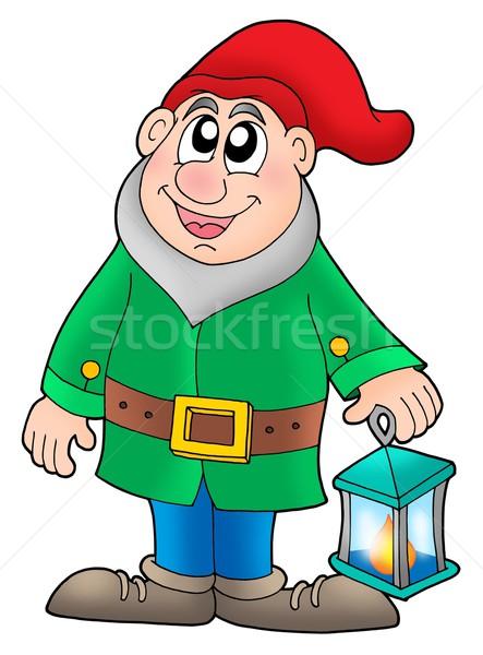 Nain lanterne couleur illustration lumière bougie Photo stock © clairev