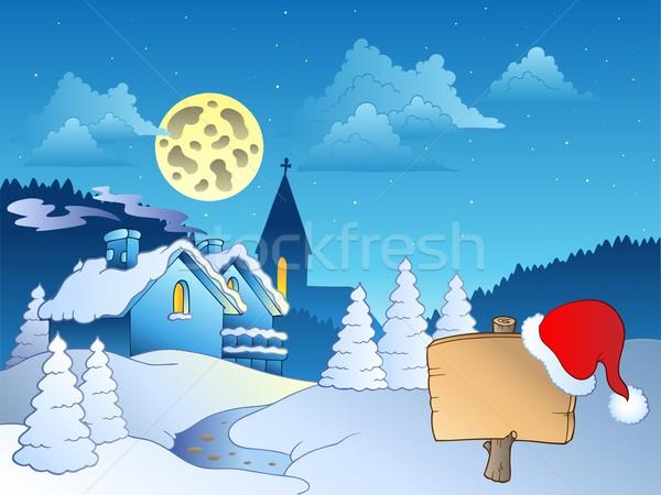 Merry Christmas theme 2 Stock photo © clairev