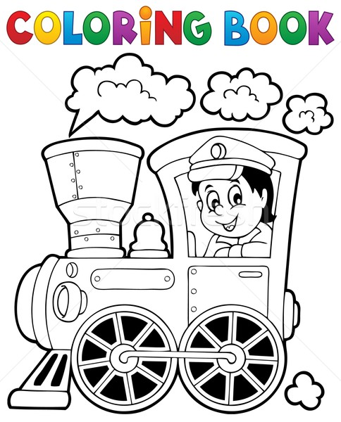 Boyama Kitabi Tren Kitap Mutlu Calismak Dizayn