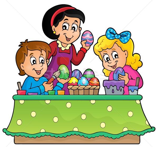 Pâques sujet image printemps enfant oeuf Photo stock © clairev