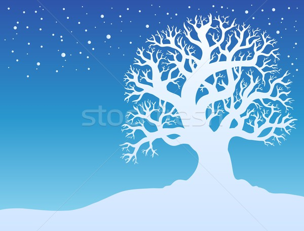 Winter tree with snow 2 Stock photo © clairev