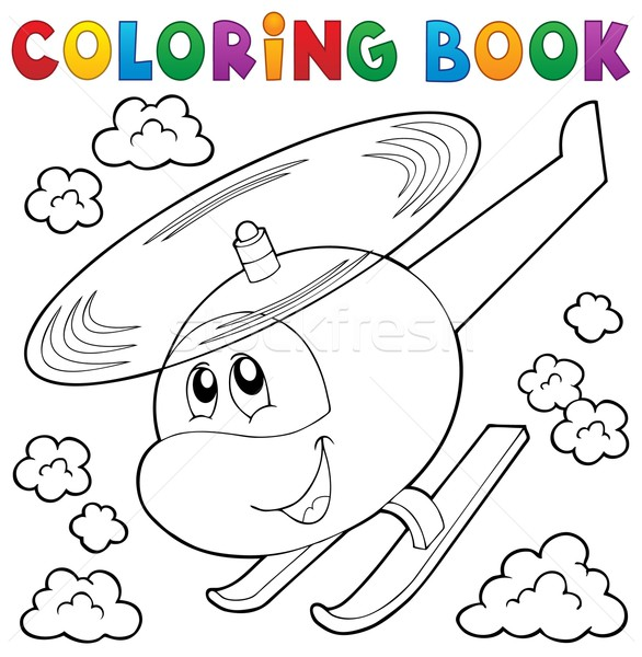 Coloring book helicopter theme 1 Stock photo © clairev