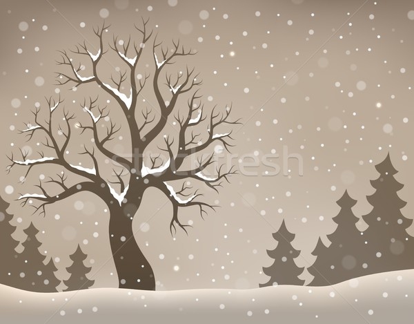 Hiver arbre sujet image nature art Photo stock © clairev