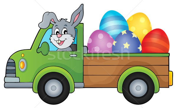 Truck with Easter eggs theme image 1 Stock photo © clairev