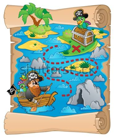 Boat with pirate monkey theme 4 Stock photo © clairev