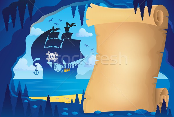 Parchment in pirate cave image 4 Stock photo © clairev