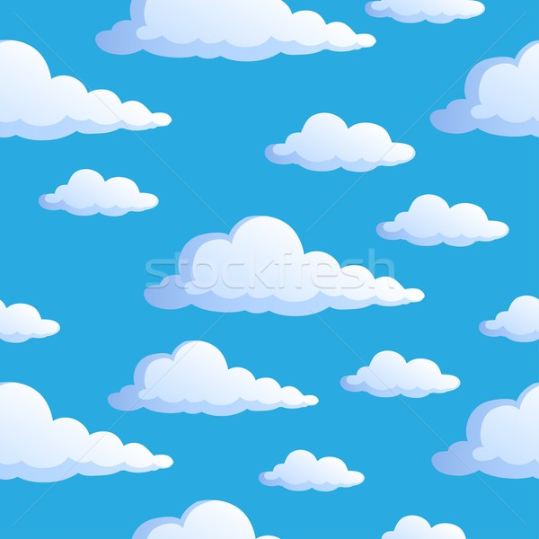 Seamless background with clouds 1 Stock photo © clairev