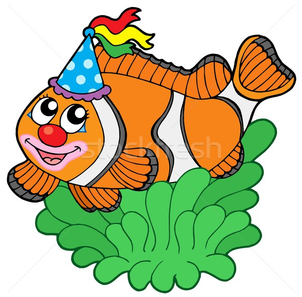 Cartoon clownfish in anemone Stock photo © clairev