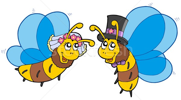 Honey bees wedding couple Stock photo © clairev