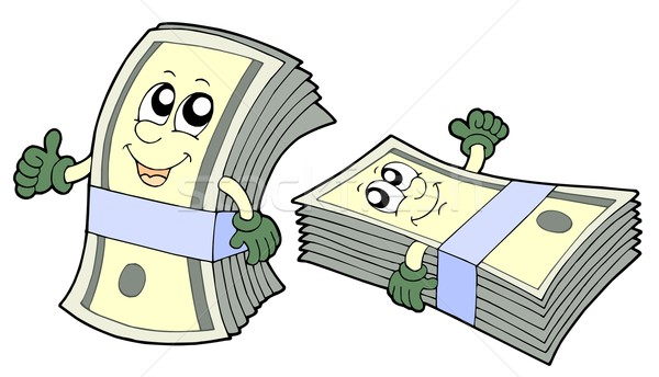 Bank of cute banknotes Stock photo © clairev