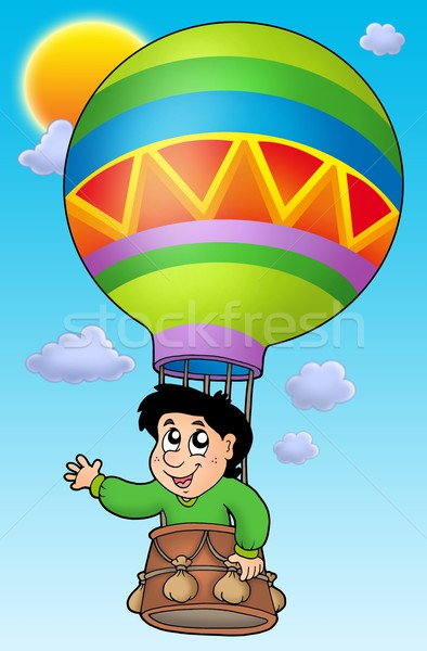 Boy in balloon on sky Stock photo © clairev