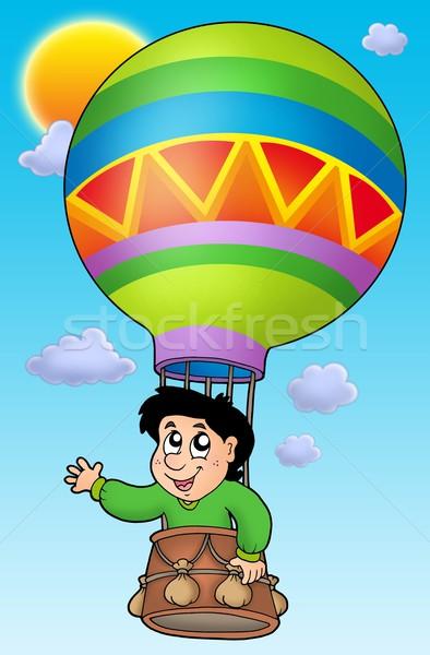 Boy in balloon on sky Stock photo © clairev