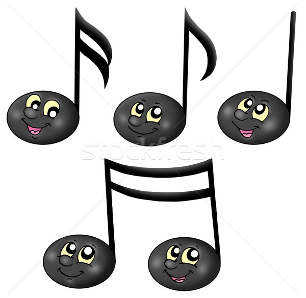 Cute music notes Stock photo © clairev