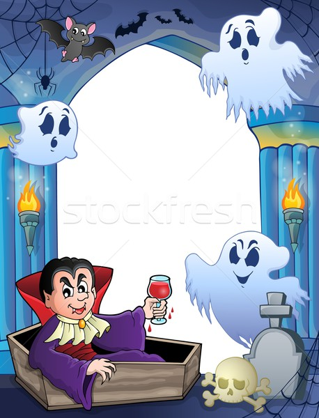 Wall alcove with Halloween theme 6 Stock photo © clairev