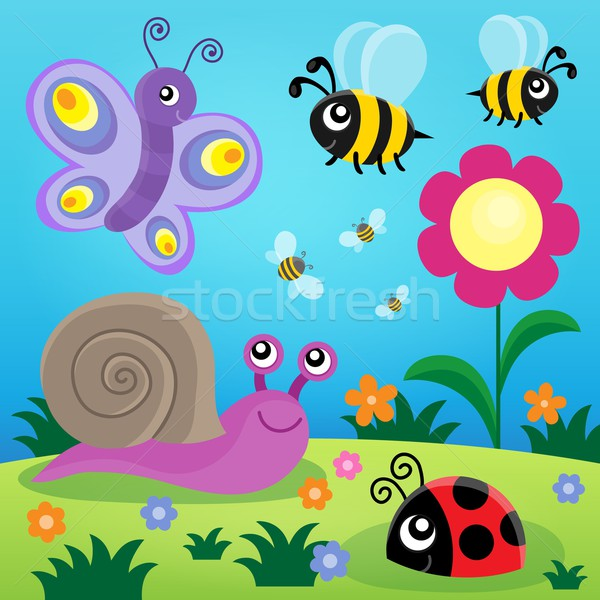 Spring animals and insect theme image 1 Stock photo © clairev