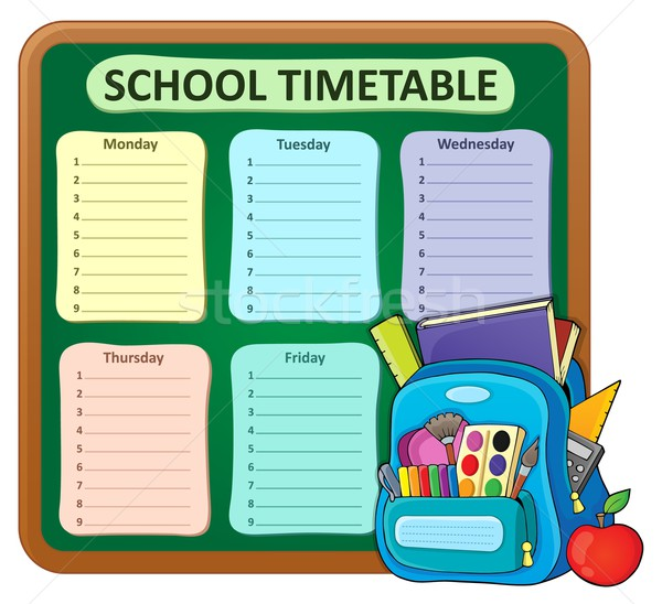 Weekly school timetable composition 5 Stock photo © clairev