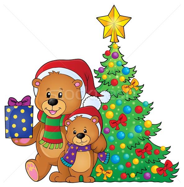 クリスマス 画像 幸せ ボックス 動物 ストックフォト © clairev