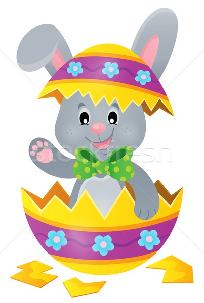 Easter bunny in eggshell theme image 1 Stock photo © clairev