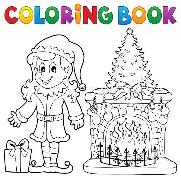 Libro Da Colorare Natale Albero Libro Arte Inverno