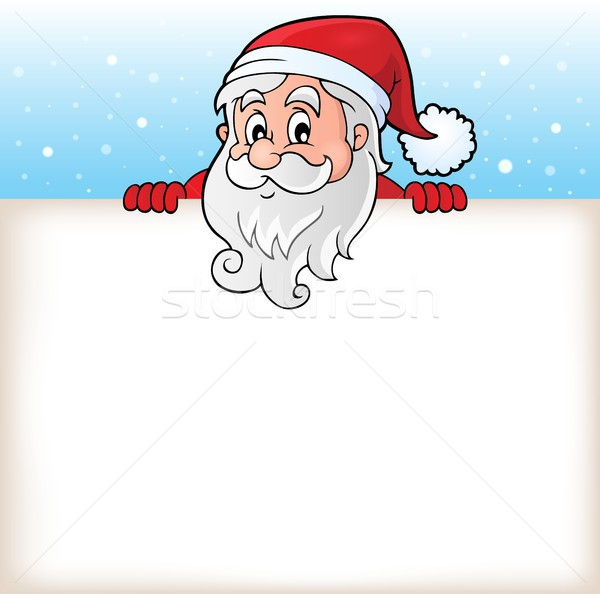 Lurking Santa Claus with copyspace 6 Stock photo © clairev