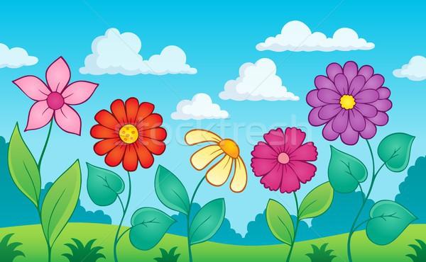 цветок тема изображение природы лист лет Сток-фото © clairev