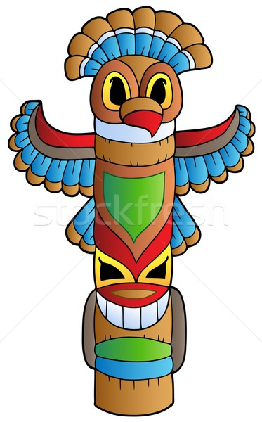 Tall Indian totem Stock photo © clairev