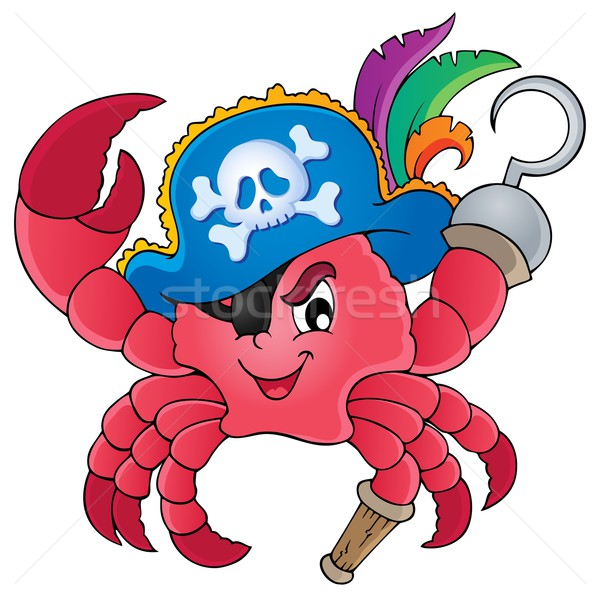 Pirate crab theme image 1 Stock photo © clairev
