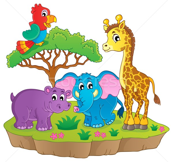 Cute African animals theme image 2 Stock photo © clairev