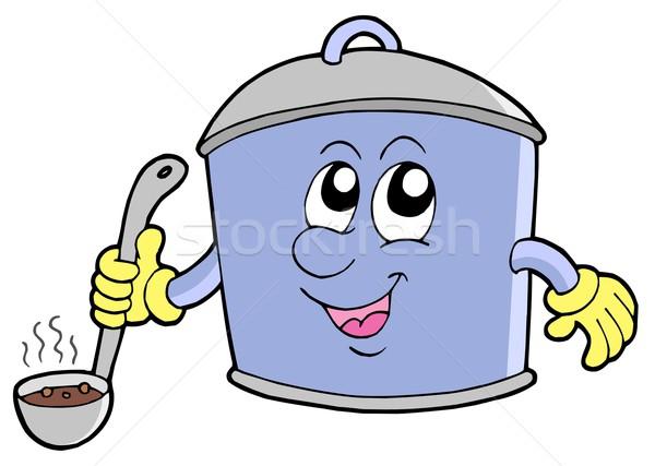 Cartoon cooker pot Stock photo © clairev