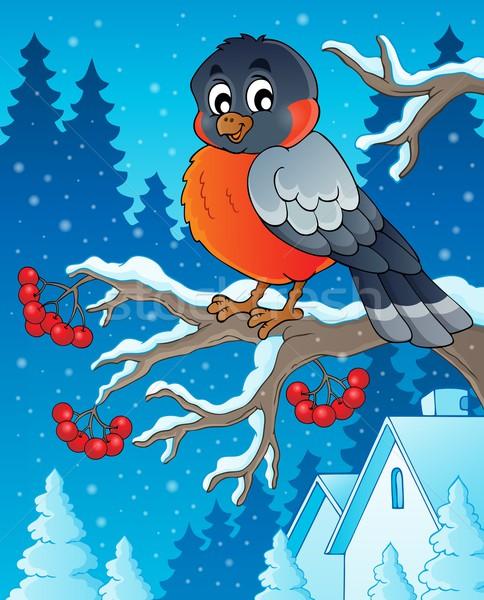 Winter bird theme image 1 Stock photo © clairev