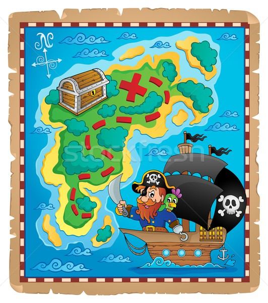 Pirate map theme image 1 Stock photo © clairev
