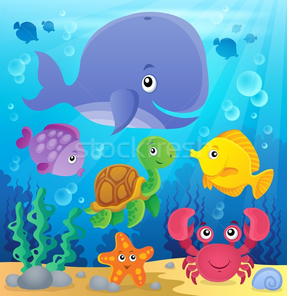 Underwater ocean fauna theme 7 Stock photo © clairev