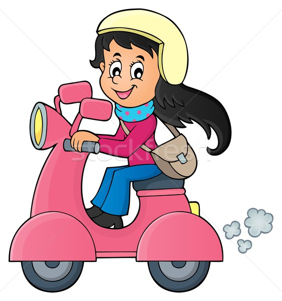 Girl on motor scooter theme image 1 Stock photo © clairev