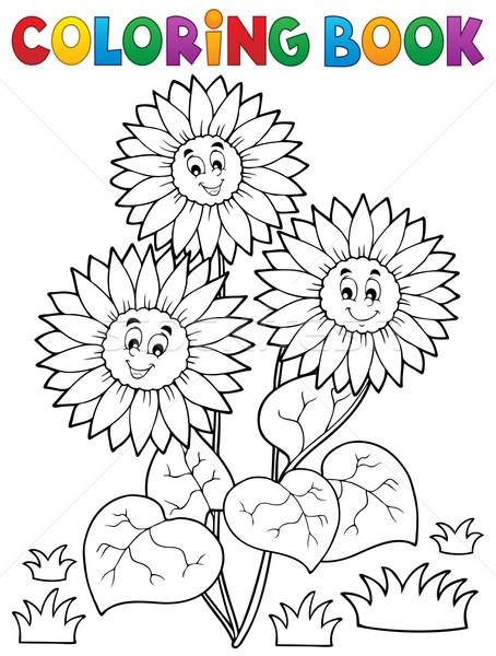 Boyama Kitabı Mutlu Ayçiçeği çiçekler Kitap Boya