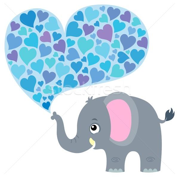 Valentine elephant theme image 1 Stock photo © clairev