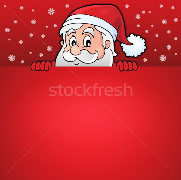 Lurking Santa Claus with copyspace 7 Stock photo © clairev