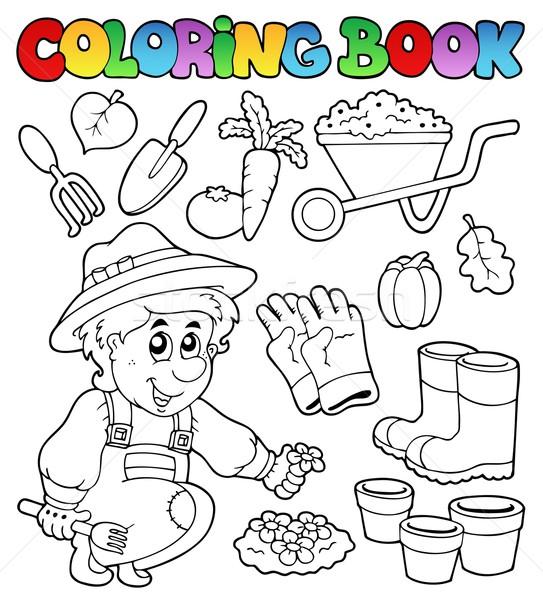 Carte De Colorat Grădină Zâmbet Carte Muncă