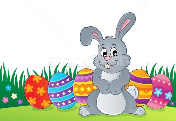Easter rabbit thematics 1 Stock photo © clairev