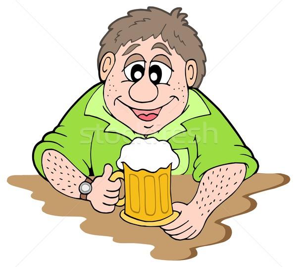 Beer drinker Stock photo © clairev