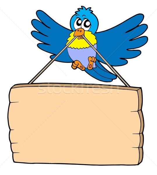 Uccello segno blu uccelli segni volare Foto d'archivio © clairev