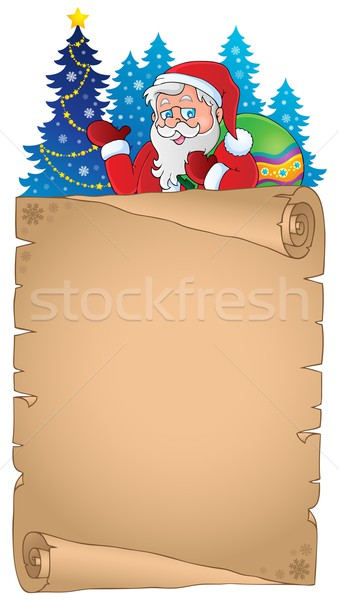 Christmas thematic parchment 4 Stock photo © clairev