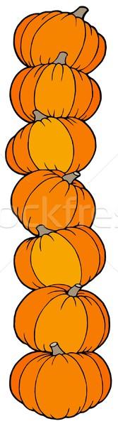Stock fotó: Függőleges · vonal · tökök · terv · gyümölcs · ősz