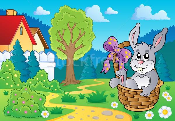 Easter bunny temat obraz królik sztuki bunny Zdjęcia stock © clairev