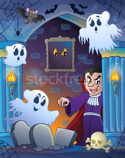 Wall alcove with Halloween theme 3 Stock photo © clairev