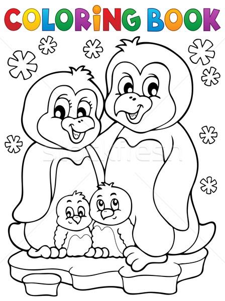 Livro Para Colorir Pinguim Familia Livro Feliz