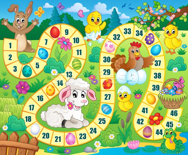 Board game image with Easter theme 1 Stock photo © clairev