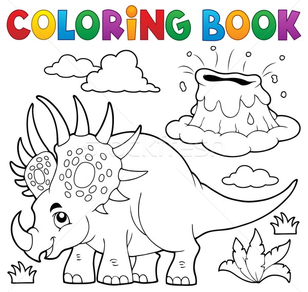 Coloring book dinosaur topic 2 Stock photo © clairev