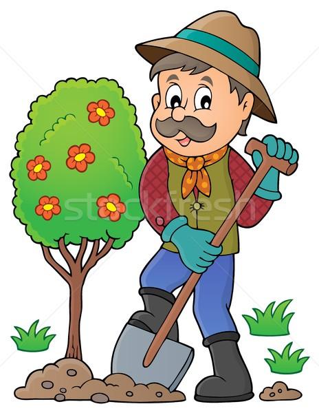 Картинка садовника для детсада