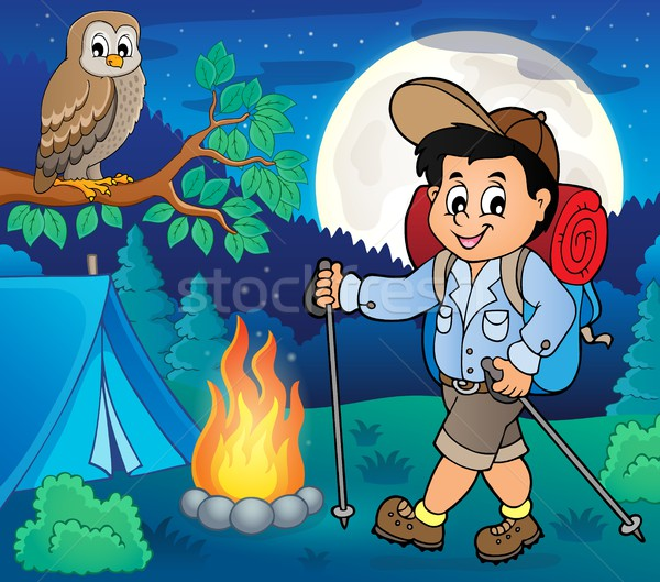 Boy hiking outdoor image 2 Stock photo © clairev